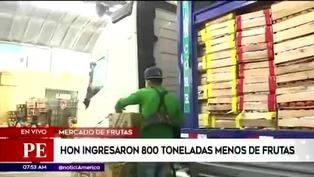Mercado Mayorista de Lima: Hoy ingresó 40% menos de mercadería