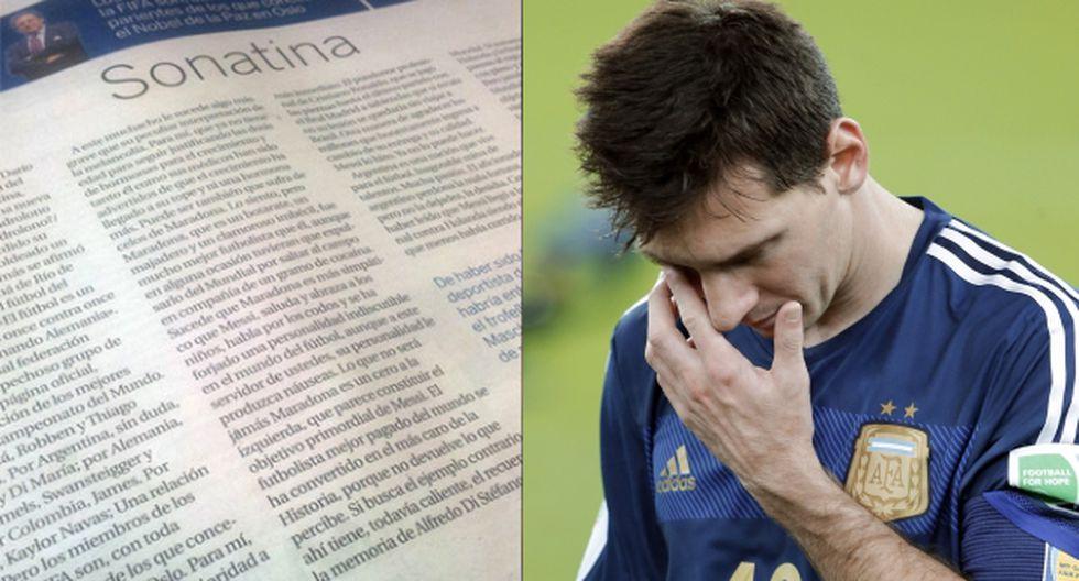 Este artículo sobre Messi genera indignación en redes sociales