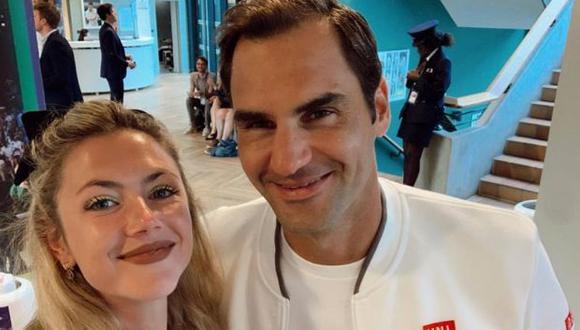 Roger Federer y Stephanie Demner en la foto publicada en Instagram.