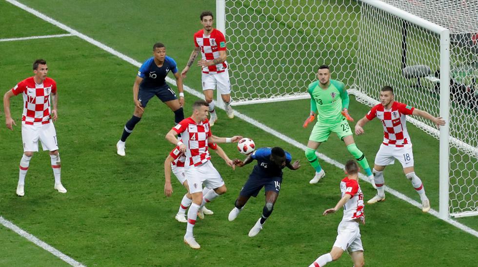 Francia vs. Croacia: la mano de Perisic que propició el penal galo. (Foto: Agencias)