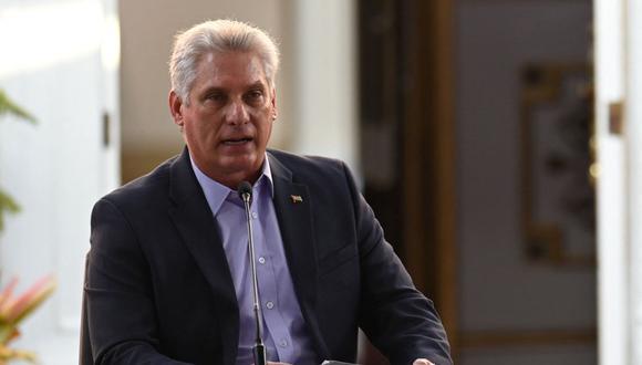 El presidente de Cuba, Miguel Díaz-Canel, se pronunció ante las críticas de su homólogo estadounidense, Joe Biden, sobre la situación en la isla. (Foto de archivo: Federico Parra / AFP)