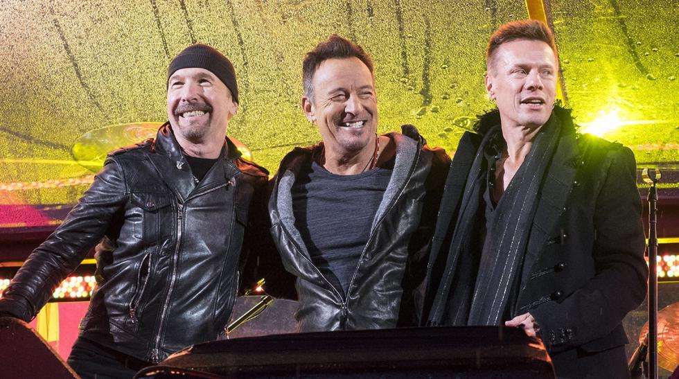 Chris Martin y Bruce Springsteen tocaron con U2 - 1