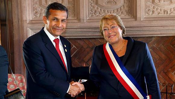 Humala y Bachelet tuvieron primera reunión bilateral en Chile