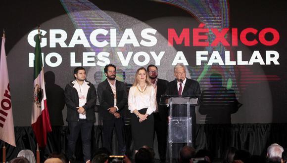 AMLO declaró su victoria como presidente de México y agradeció a sus oponentes que hayan reconocido su triunfo electoral. (Foto: EFE/Mario Guzmán)