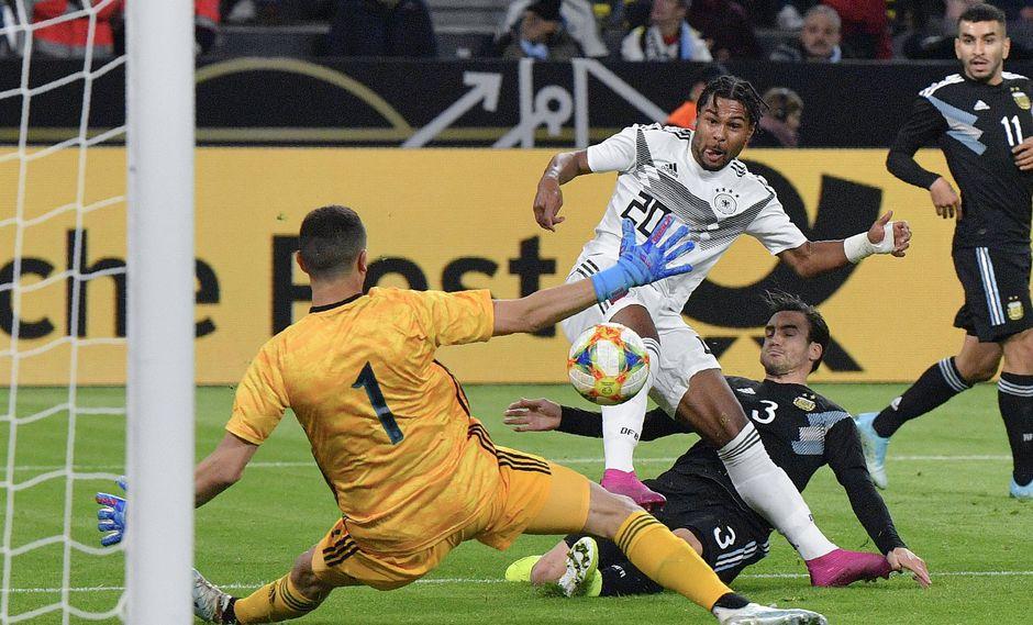 Serge Gnabry marcó el 1-0 en el amistoso entre Alemania y Argentina. (Foto: AP Photo/Martin Meissner)
