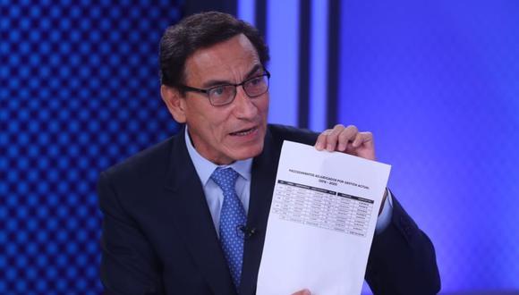 Vizcarra puede pretenderse muy democrático por su presencia en dos programas dominicales recientes. Pero lo dicho en ambas jornadas no despejó las dudas razonables que sobre él se ciernen. (Foto: Presidencia)