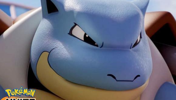 Tras haber sido anunciado en tráilers y más, Blastoise por fin tiene fecha de llegada a Pokémon Unite. (Imagen: The Pokemon Company)