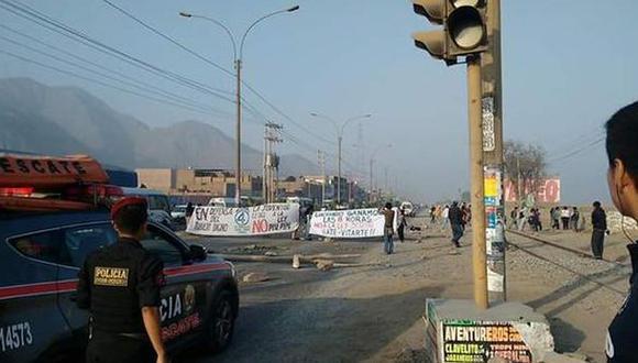 Opositores a 'Ley Pulpín' bloquearon carretera: PNP los liberó