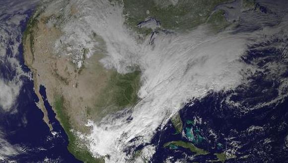 Así se ve una tormenta de nieve desde el espacio