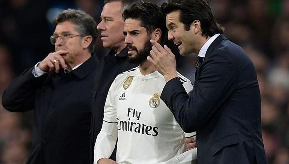 Desde la llegada de Santiago Solari al banquillo del Real Madrid, Isco Alarcón ha tenido escasas oportunidad en el equipo titular y se especula que ambos estarían peleados. (Foto: EFE)