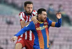 Atlético Madrid empató sin goles ante Barcelona de visitante y sigue tentando el título de LaLiga