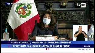 Coronavirus en Perú: estas son las 14 provincias que salieron del nivel de riesgo extremo