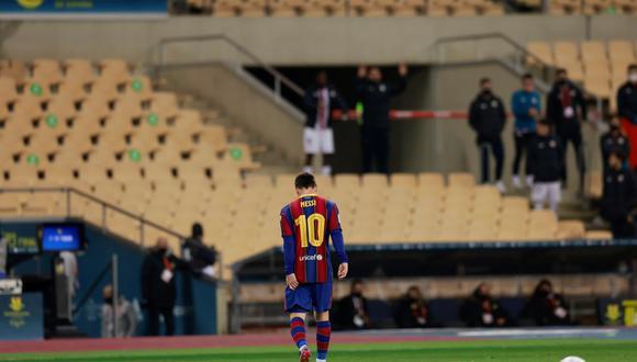 Lionel Messi fue expulsado luego de golpear en el rostro a Villalibre. (Foto: Agencias)
