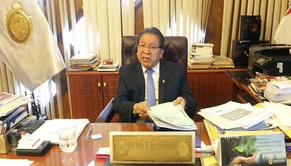 Pablo Sánchez confirmó la presencia de fiscal general del principado de Andorra en el Perú para octubre. (Foto: Archivo El Comercio)