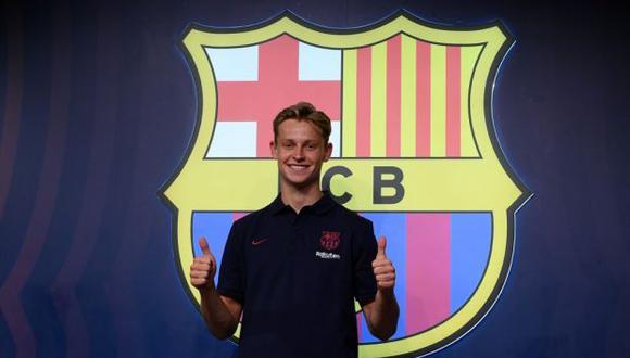 Frenkie de Jong firmará hasta el final de la temporada 2023/2024 con Barcelona. Su fichaje representó una operación de 75 millones de euros más 11 en variables. (Foto: AFP)