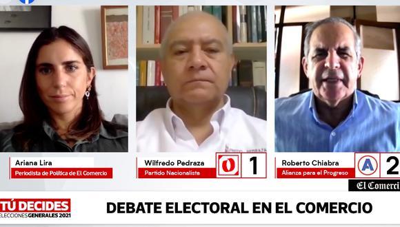 Los candidatos del Partido Nacionalista y de APP debatieron en El Comercio.