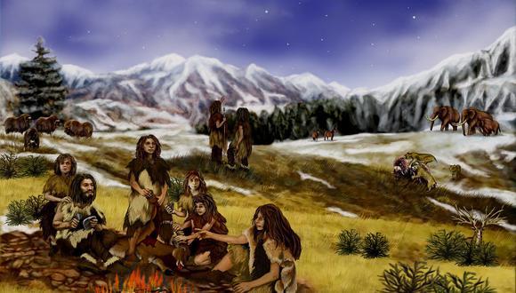 Ilustración de los humanos en la prehistoria. (Imagen: Pixabay)