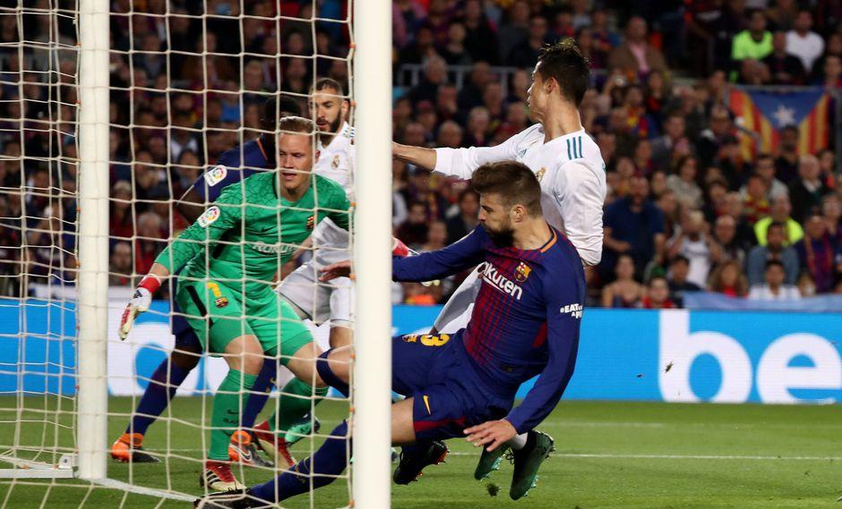 Cristiano Ronaldo marcó en el Barcelona vs. Real Madrid. (Foto: Reuters)