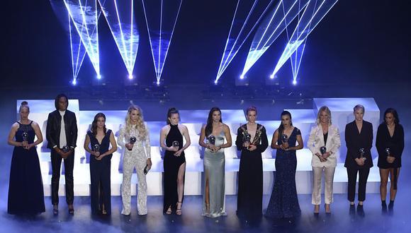 The Best 2019: este es el primer once femenino premiado por la FIFA. (Foto: AFP)