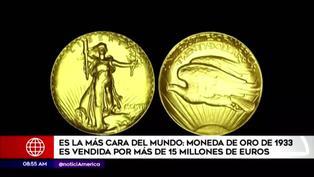 La moneda más cara del mundo es de 1933 fue vendida por 15,5 millones de euros