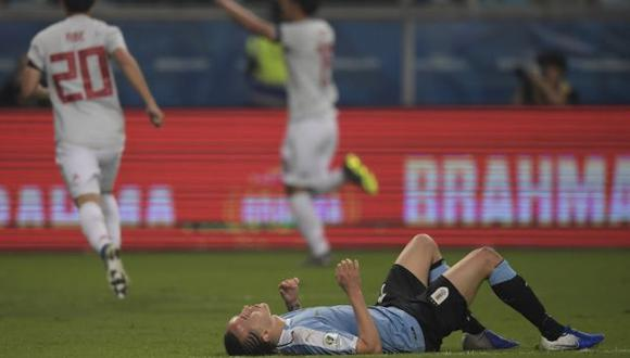 Laxalt no se recuperó y fue reemplazado por Giovanni González en la 'Celeste'. (Foto: AFP)