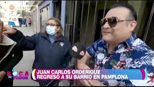 Juan Carlos Orderique se reencuentra con sus vecinos en Pamplona