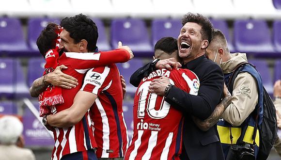Diego Simeone y su emotivo mensaje tras conseguir el campeonato de LaLiga Santander. (Foto: REUTERS)