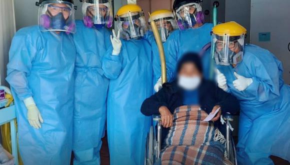 Tacna: mujer de 72 años venció el COVID-19 en hospital Hipólito Unanue (Foto: hospital Hipólito Unanue)