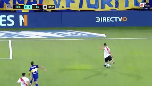 Boca Juniors vs. River Plate: Andrada le negó el 1-0 a Borré con una gran atajada | VIDEO