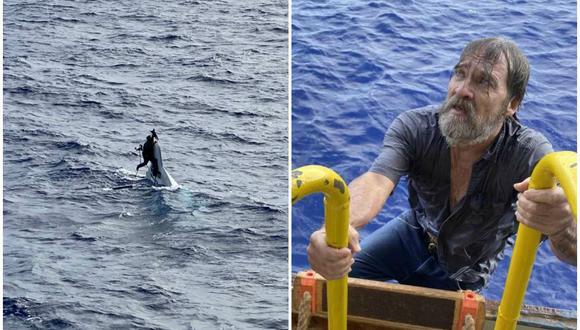 Stuart Bee, de 62 años, fue hallado ileso por la Guardia Costera de Estados Unidos. (Foto: USCGSoutheast)
