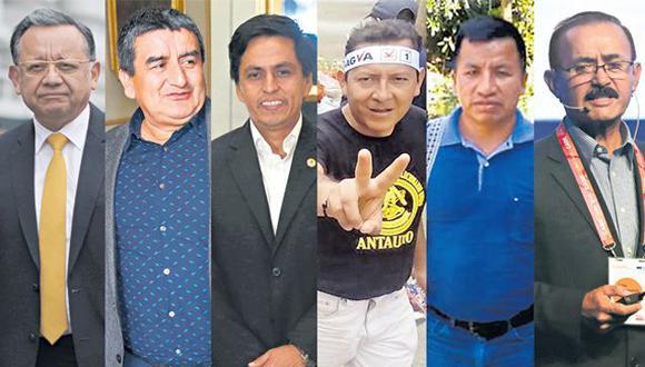 En este grupo figuran Edgar Alarcón Tejada (UPP), Humberto Acuña Peralta (APP), Fernando Meléndez Celis (APP), Posemoscrowte Chagua Payano (UPP) y Otto Guivobich Arteaga (Acción Popular)