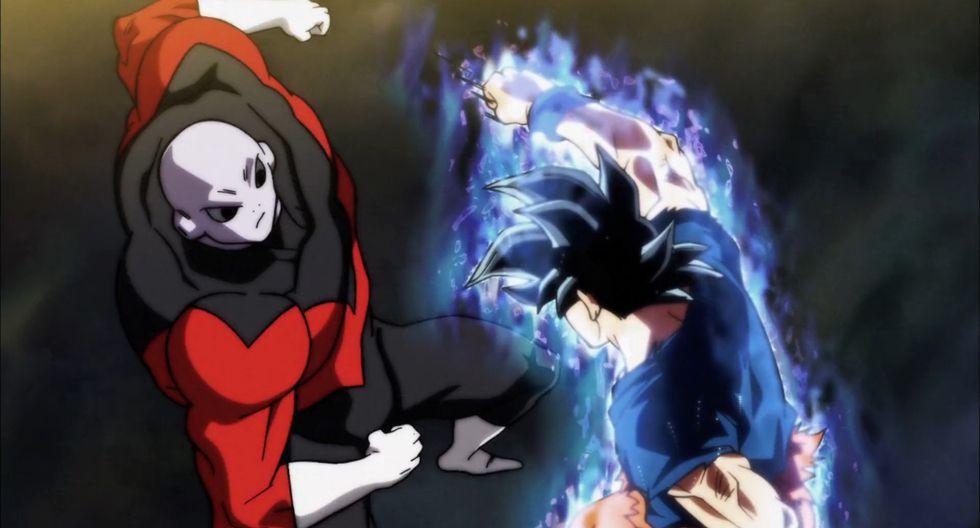El primer combate entre Gokú y Jiren. Aquí el saiya utilizó por primera vez el ultra instinto, habilidad que solo unos pocos dioses de la destrucción dominan. (Fuente: Toei Animation)