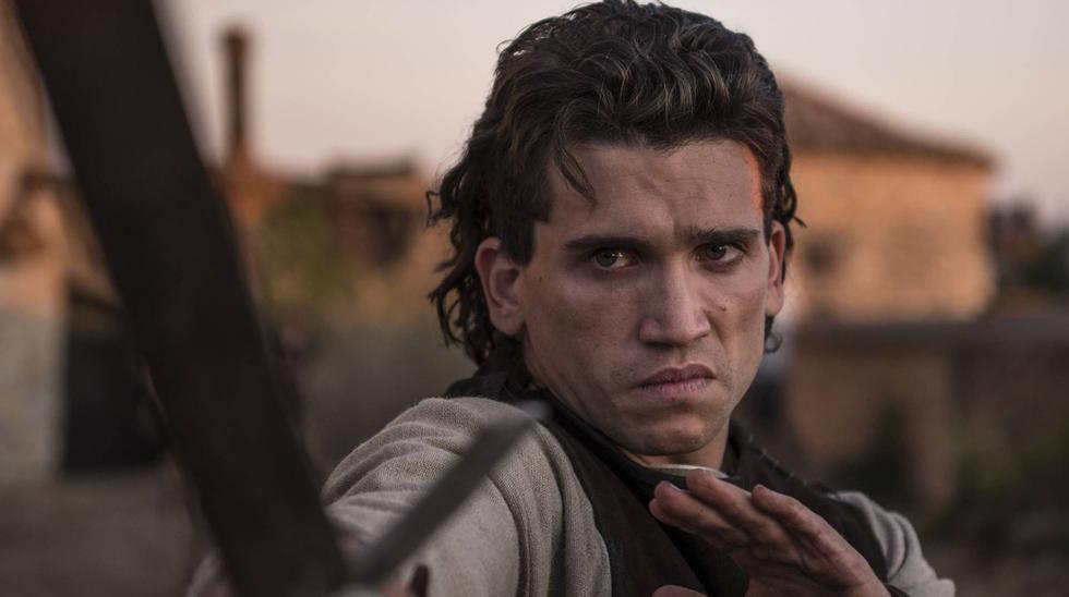 """Jaime Lorente (Denver en """"La casa de papel""""), caracterizado como Rodrigo Díaz de Vivar en """"El Cid"""", de próximo estreno. (Foto: Amazon)"""
