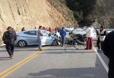 Huancavelica: Juez de Paz muere tras choque frontal de dos autos