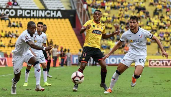 Barcelona vs. Liga de Quito EN VIVO vía GolTV: en Guayaquil por la Serie A de Ecuador   EN DIRECTO. (Foto: Twitter LigaPRO Ecuador)
