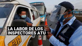 Los peligros que corren los inspectores de la ATU en el caótico tránsito limeño