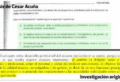 """""""Un nuevo plagio en la tesis de Acuña"""", por Enrique Pasquel"""
