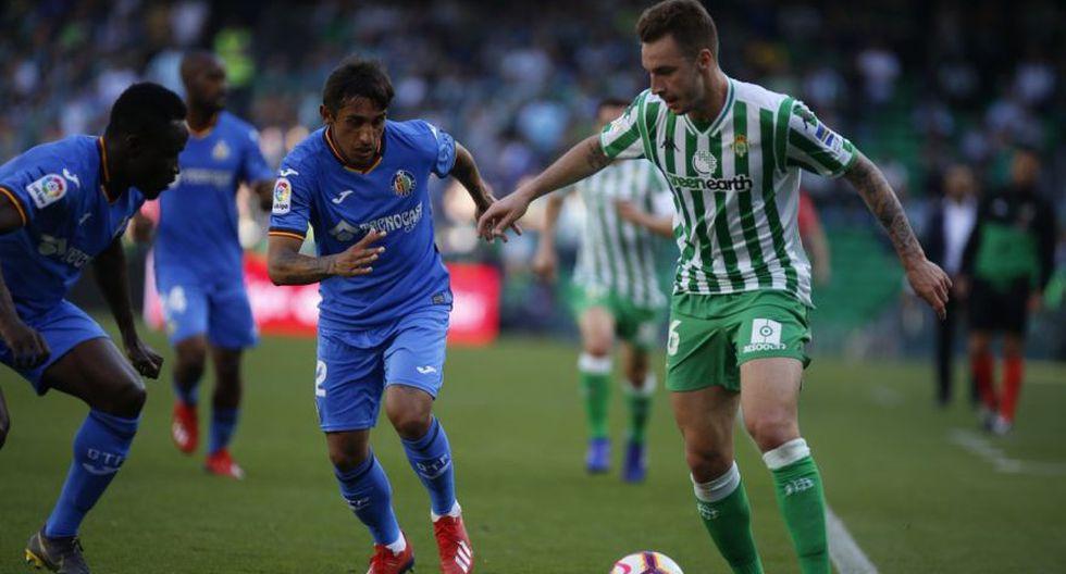 Con Diego Laínez, Real Betis vs. Getafe EN VIVO ONLINE vía DirecTV Sports: juegan por la fecha 26 por LaLiga Santander. | Foto: AFP