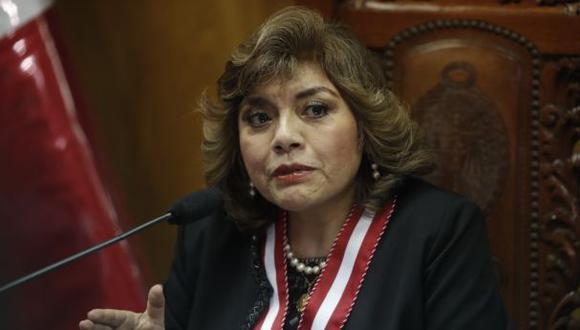 Esta tarde, Ávalos anunció que declara en emergencia la fiscalía. (Foto: Renzo Salazar/GEC)