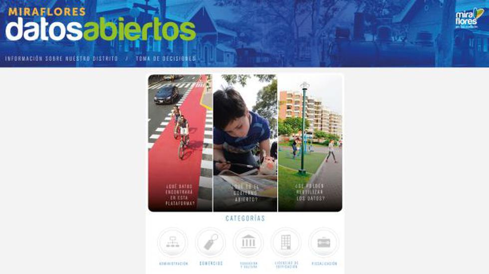 Miraflores presentó su portal web de datos abiertos - 1