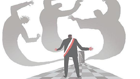 """""""Si todavía las actitudes, el ejemplo y las enseñanzas de Belaunde tienen peso en Acción Popular, sus congresistas debieron de condenar la corrupción en todos sus extremos, pero votar contra la vacancia"""". (Ilustración: Víctor Aguilar Rúa)."""