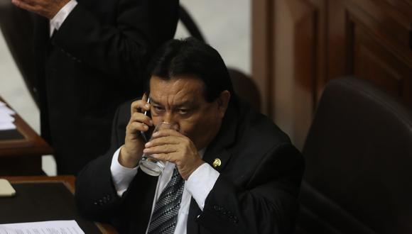 José Luna Gálvez, fundador del partido Podemos Perú, es investigado como presunto líder y financista de la organización criminal Los Gánsteres de la Política. (Foto: Alonso Chero / El Comercio)