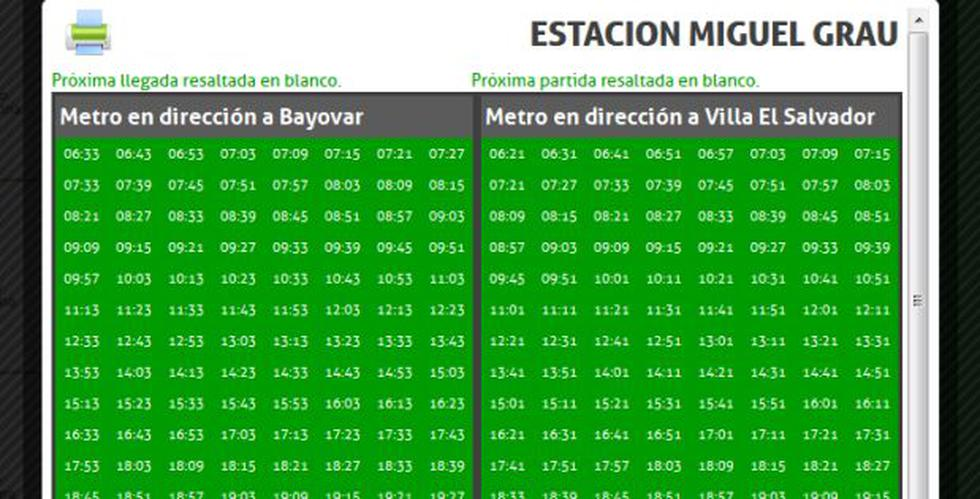 Metro de Lima pasa desde hoy con nuevos horarios en tramo 1 - 2