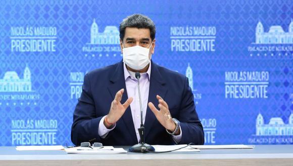 Nicolás Maduro durante un anuncio televisado, en el Palacio Presidencial de Miraflores en Caracas. (Foto: Archivo/ AFP / Presidencia de Venezuela / Marcelo Garcia).