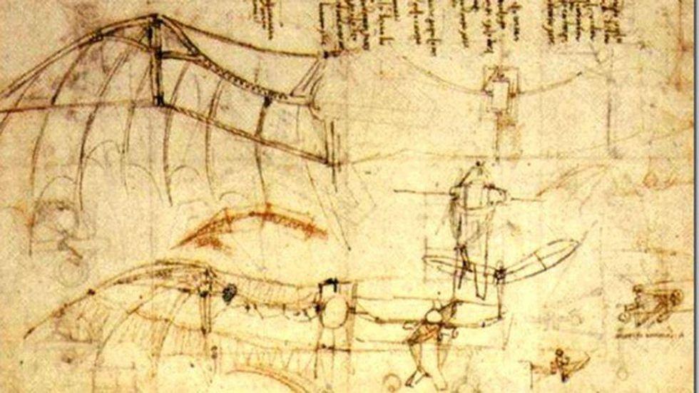 Máquina voladora de Da Vinci. (Foto: Dominio público)