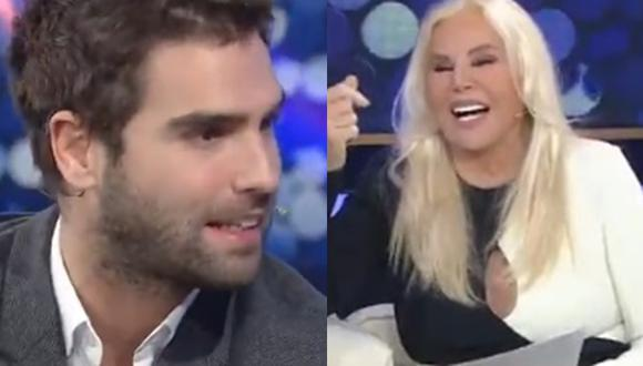 Nicolás Furtado entrevistado por Susana Giménez. (Foto: captura de panalla)