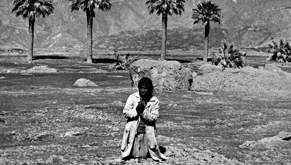 Icónica imagen de Yungay desaparecida por el aluvión. Fue tomada el 4 de junio por Javier Ascue. (Archivo El Comercio)