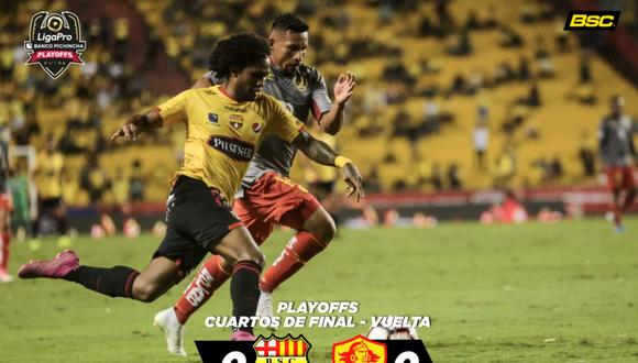 Barcelona de Guayaquil igualó frente al Aucas y quedó fuera de los Play Offs de la Serie A de Ecuador