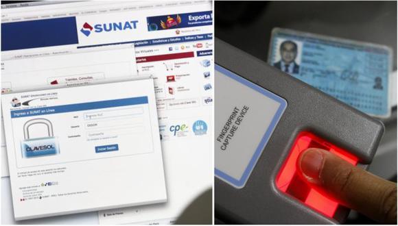 La Sunat tendrá acceso, de manera gratuita, a los servicios de verificación biométrica, tanto facial como dactilar.