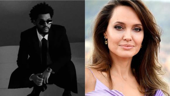Angelina Jolie y The Weeknd fueron fotografiados cenando juntos en Los Ángeles. (Foto: @theweeknd/ AFP)